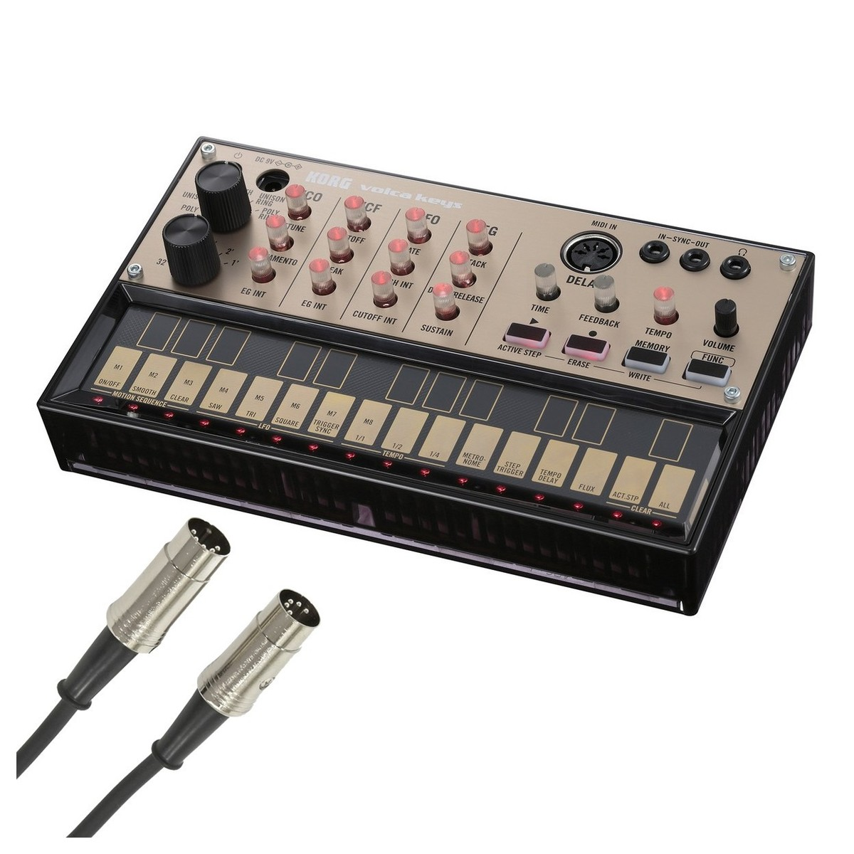 korg volca keys analog loop synth with midi cable at gear4music. Black Bedroom Furniture Sets. Home Design Ideas