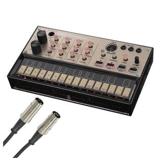 Korg Volca Keys Analog Loop Synth With Free MIDI Cable - Bundle