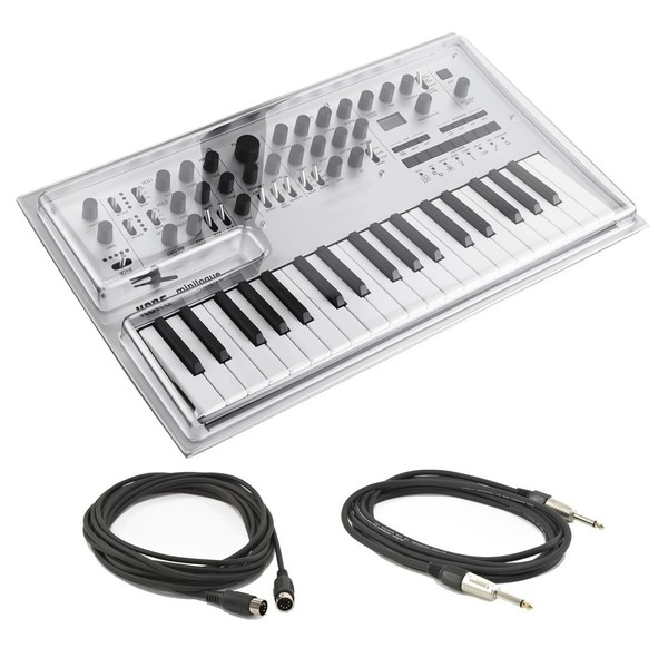 Korg Minilogue Polyphonic Analogue Synthesizer With Jack & MIDI Cable - Bundle