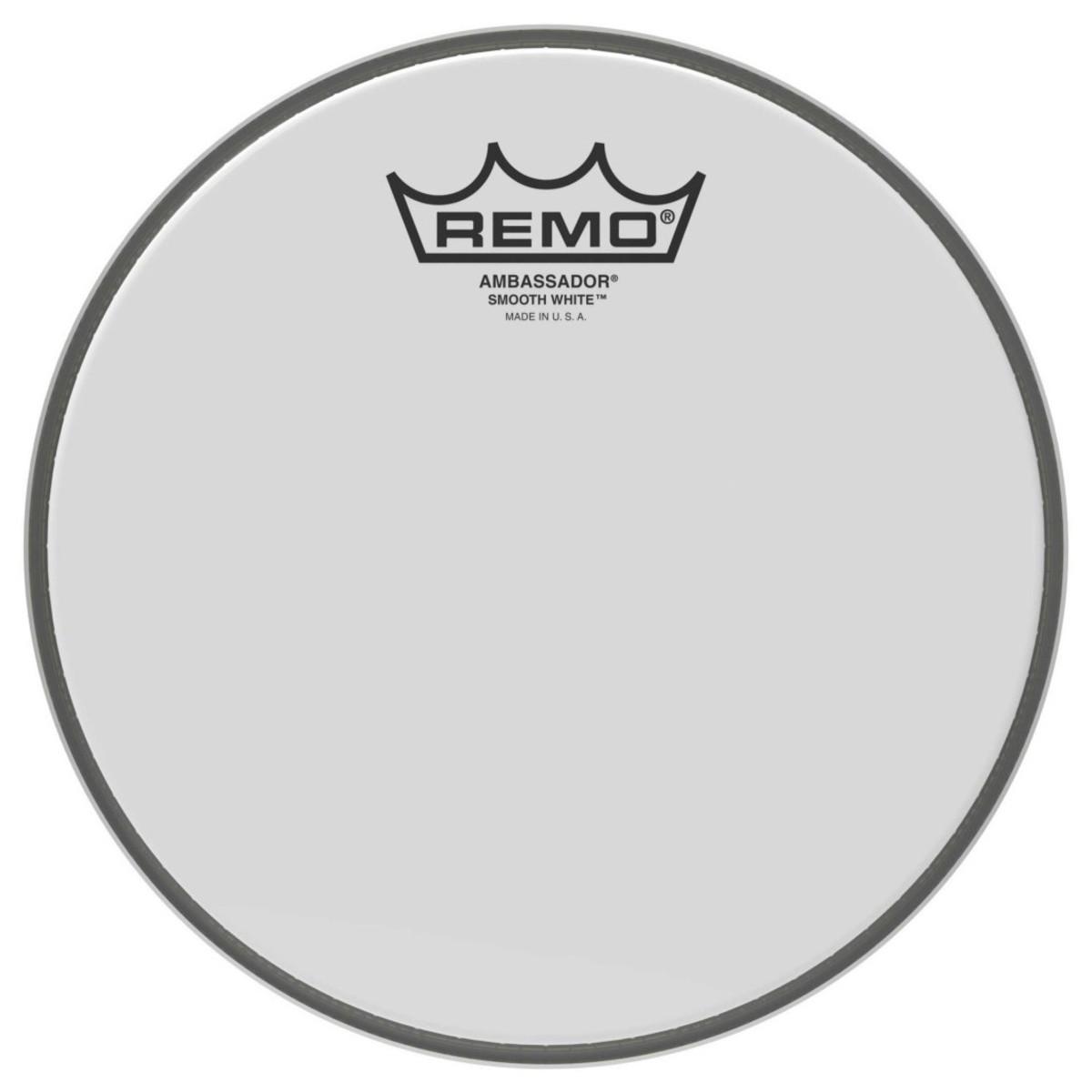 Remo Ambassador Smooth White 10 Drum Head