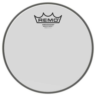 Remo Ambassador Smooth White 10'' Drum Head