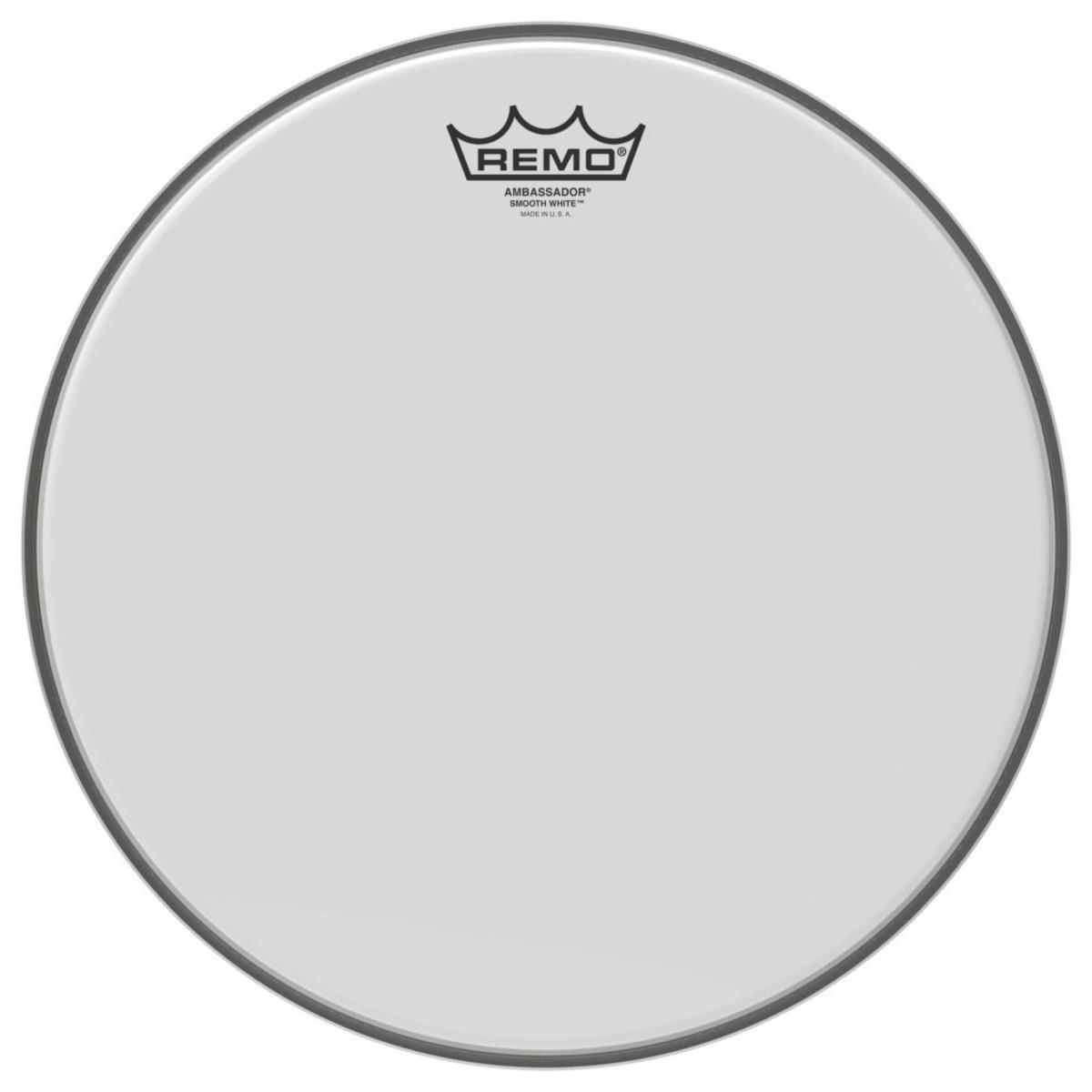 Remo Ambassador Smooth White 14 Drum Head