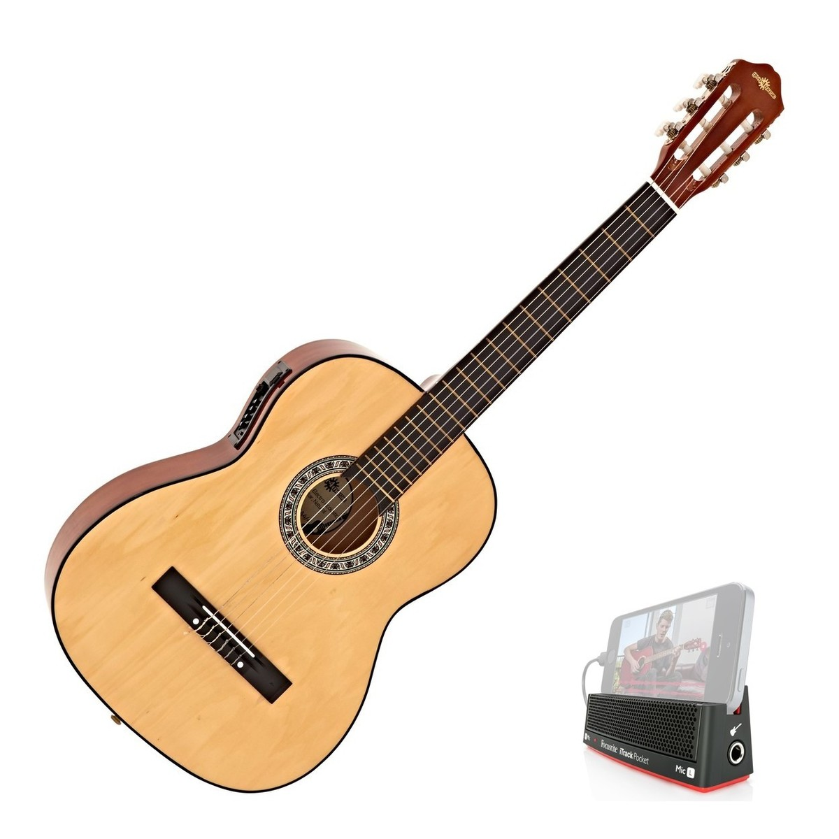 classical electro acoustic guitar by gear4music free itrack pocket at gear4music. Black Bedroom Furniture Sets. Home Design Ideas