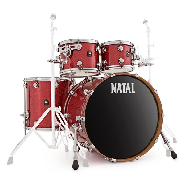 Natal Originals Maple 22'' 4pc Shell Pack, Red Sparkle