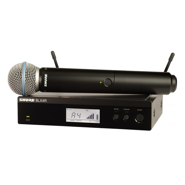 Shure BLX24RE/B58-T11 Rack Mount Wireless Microphone System 1