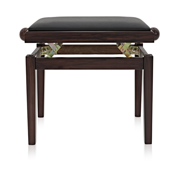 Adjustable Piano Stool, Rosewood, by Gear4music