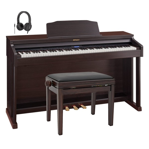 Roland HP601 Digital Piano, Contemporary Rosewood Package