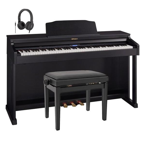 Roland HP601 Digital Piano, Contemporary Black Package