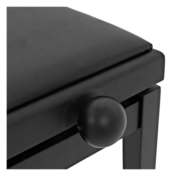 Adjustable Piano Stool by Gear4music, Matte Black