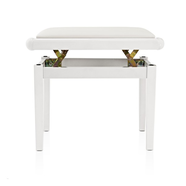 Adjustable Piano Stool by Gear4music, White