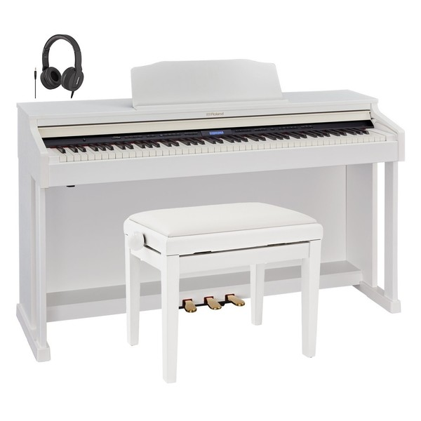 Roland HP601 Digital Piano, Contemporary White Package
