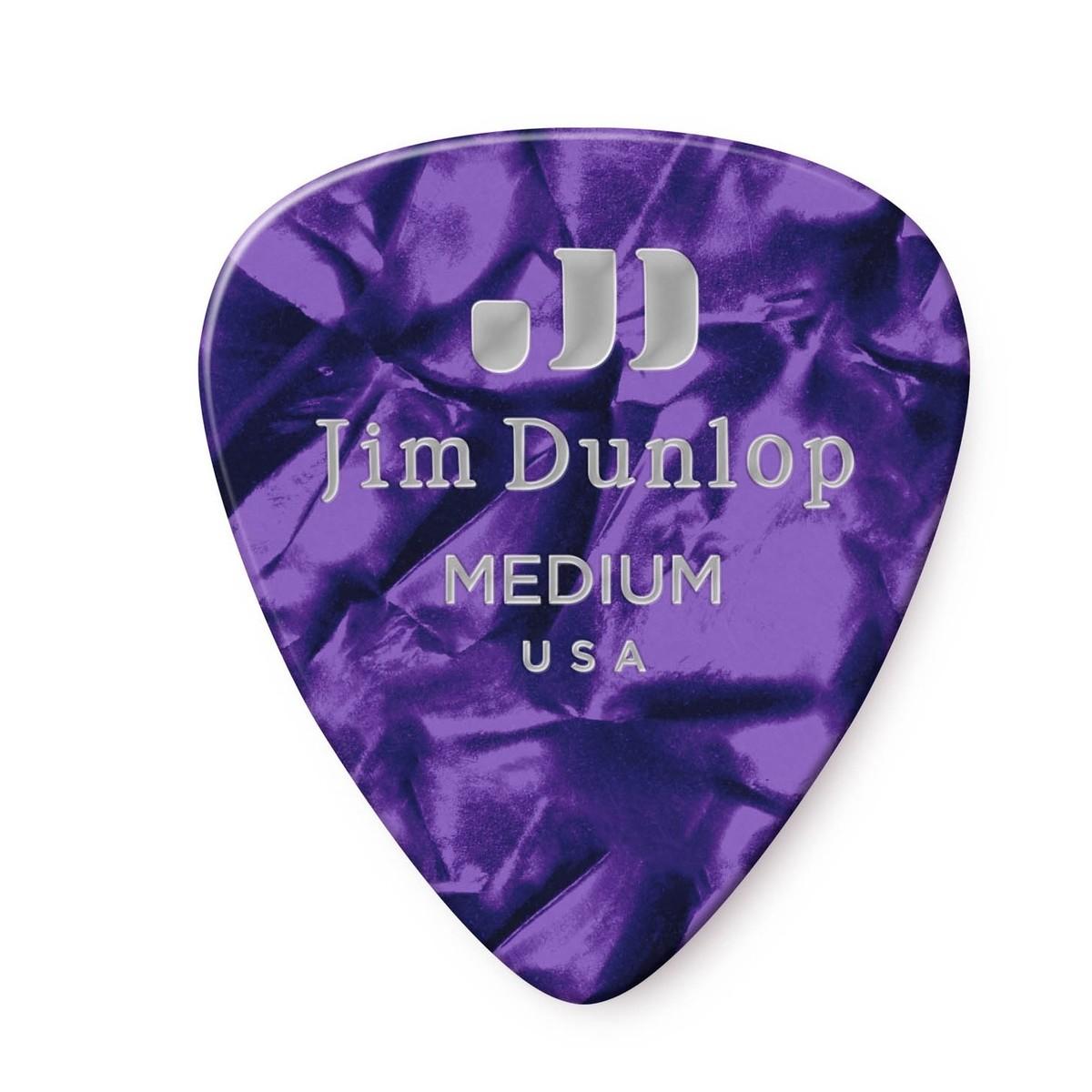 Dunlop Guitar Picks  12 Pack  Celluloid  Purple Pearl  Heavy