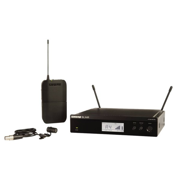 Shure BLX14RE/W85-S8 Rack Mount Wireless Lavalier System with WL185 1