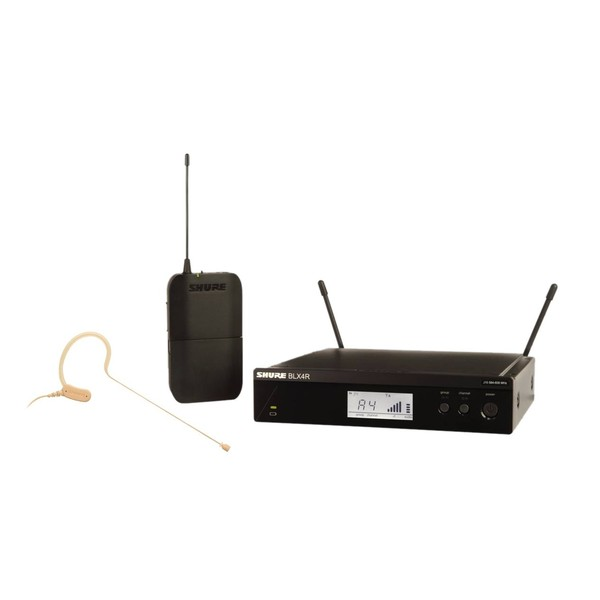 Shure BLX14RE/MX53-S8 Rack Mount Wireless Earset System with MX153 1