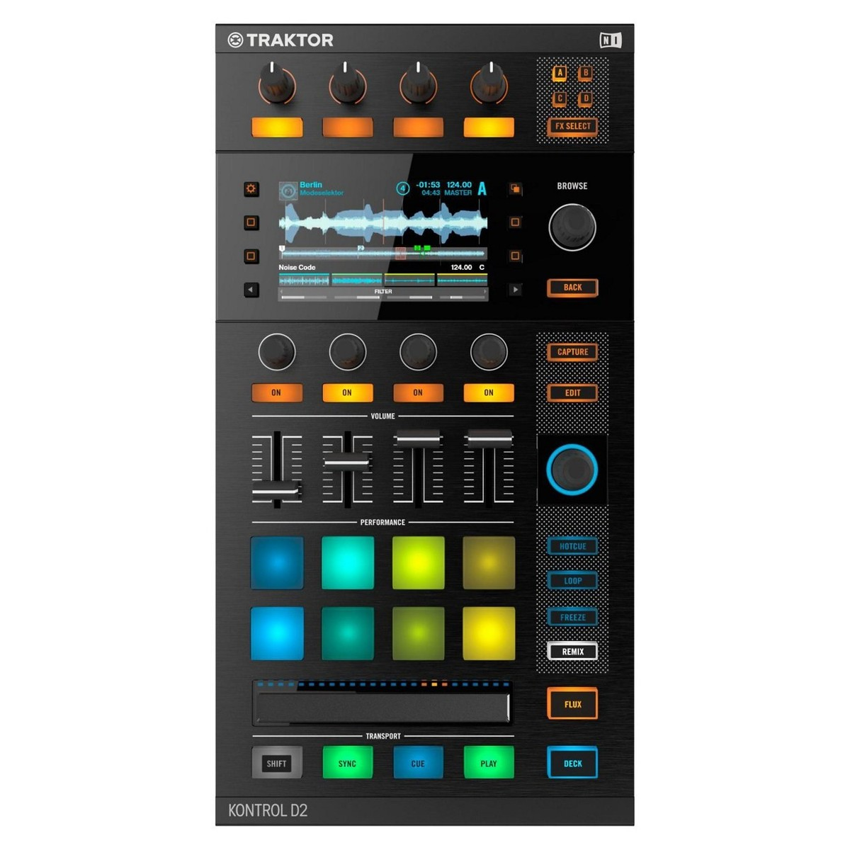 native instruments traktor kontrol d2 controller with visual display at gear4music. Black Bedroom Furniture Sets. Home Design Ideas
