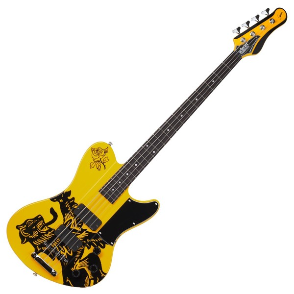 Schecter Simon Gallup Ultra Bass, Yellow & Black