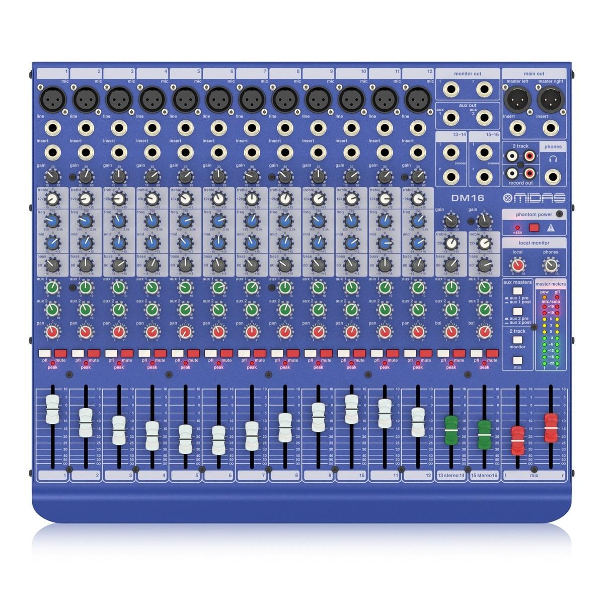Midas DM16 Analogue Mixer at Gear4music