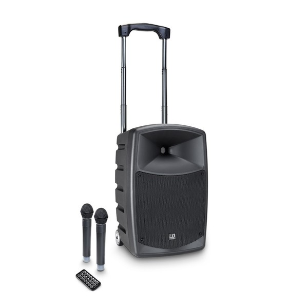 LD Systems Roadbuddy 10 Portable PA Speaker with Handheld Microphones
