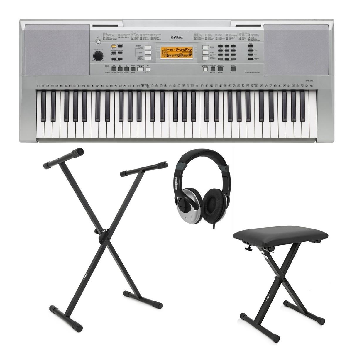 Yamaha Ypt 340 Portable Keyboard Package At Gear4music