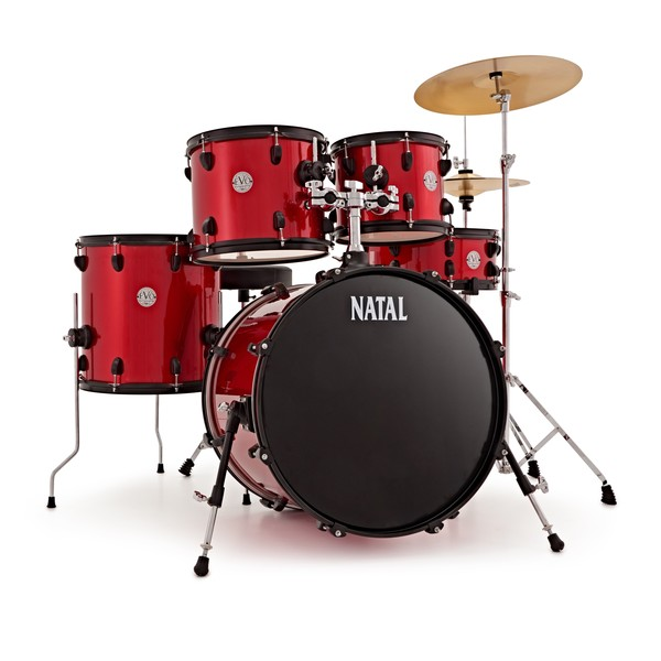 Natal EVO 20'' Fusion Drum Kit with Hardware & Cymbals, Red