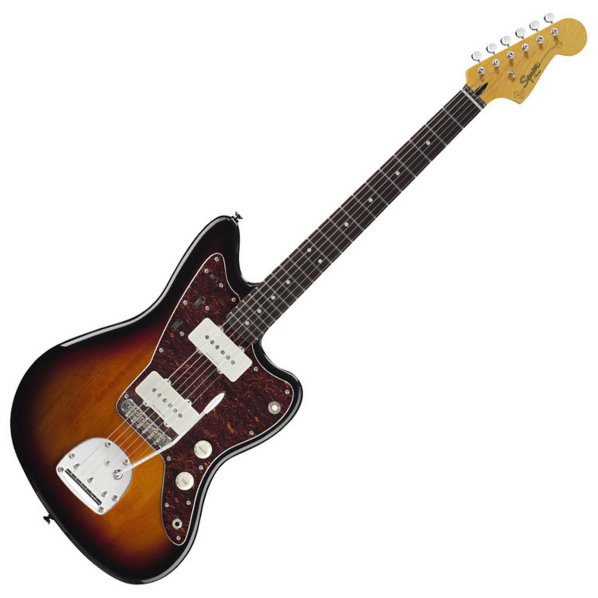squier by fender vintage modified jazzmaster guitar 3 color sunburst box opened at gear4music. Black Bedroom Furniture Sets. Home Design Ideas