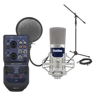 Zoom U44 USB Interface & SubZero SZC-400 Condenser Microphone Pack - Bundle