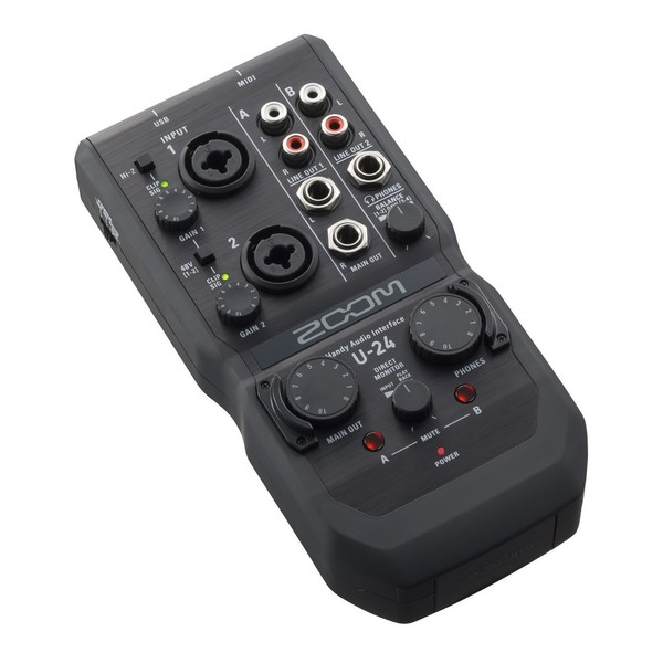 Zoom U-24 Audio Interface - Angled