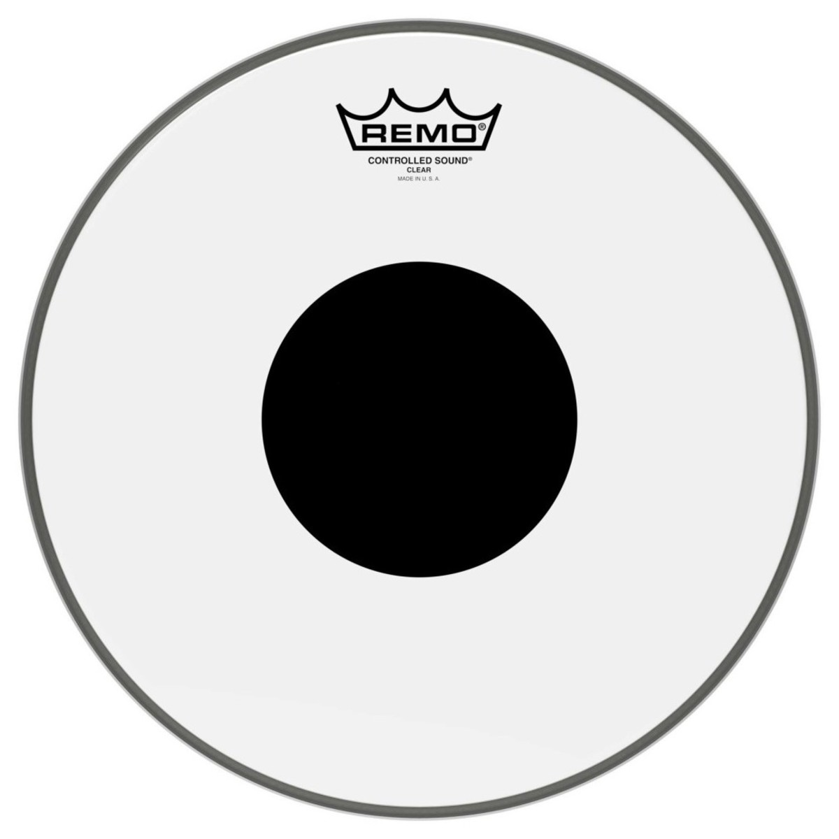 Remo Controlled Sound Clear 22 Black Dot Bass Drum Head