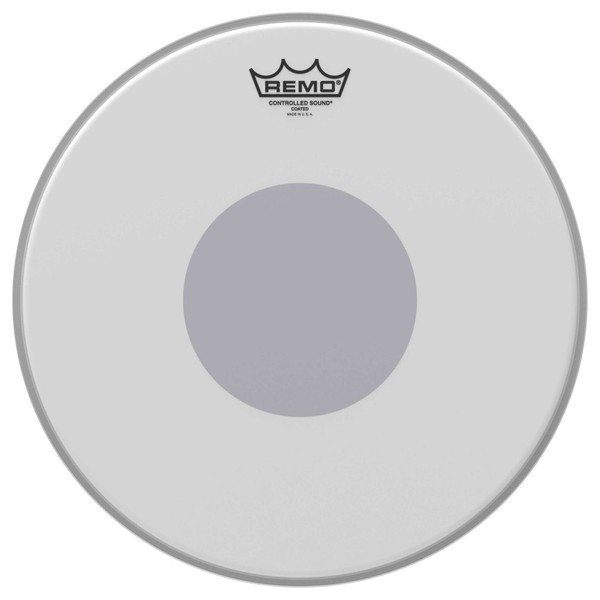 Remo Controlled Sound Coated 14'' Reverse Black Dot Snare Drum Head