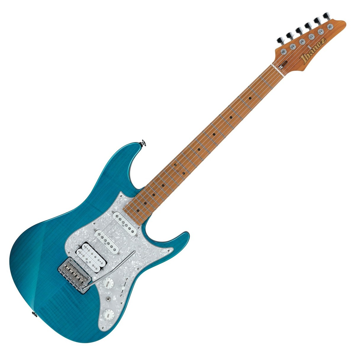 ibanez az2204f prestige 2018 trans aqua blue at gear4music. Black Bedroom Furniture Sets. Home Design Ideas