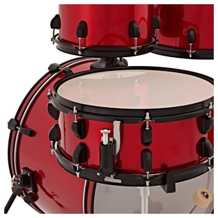 Natal EVO 22'' Drum Kit w/ Hardware, Cymbals & Extra Crash, Red