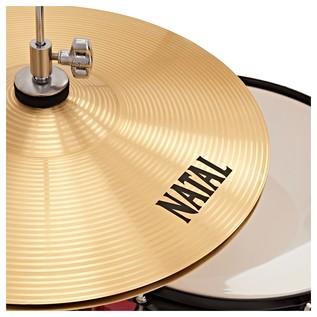 Natal EVO 22'' Drum Kit w/ Hardware, Cymbals & Extra Crash, Red