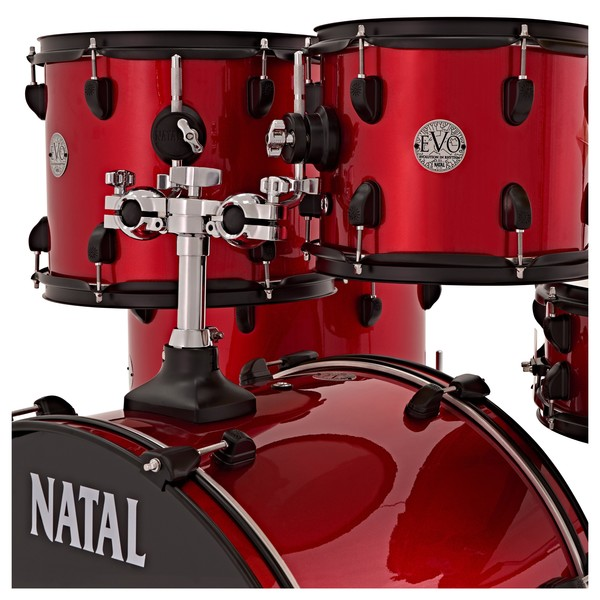 Natal EVO 22'' US Fusion Drum Kit with Hardware & Cymbals, Red
