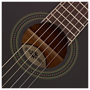 Deluxe Classical Electro Acoustic Guitar Pack, Black, by Gear4music
