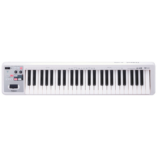 Roland A-49 MIDI Controller Keyboard, White