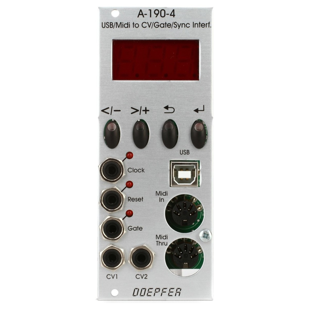 doepfer a-190-4 usb  midi-to-cv  gate interface