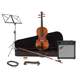 Electro Acoustic 4/4 Violin + Amp Pack by Gear4music