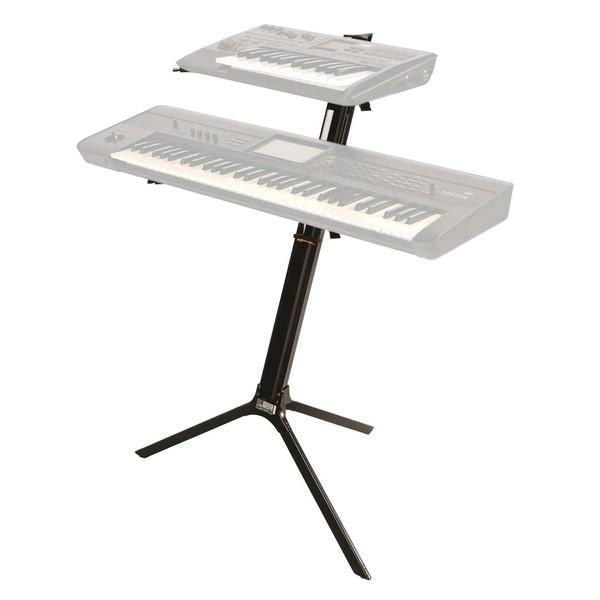 Quiklok SL/911ALU BK Slim Dual-Tier Aluminium Keyboard Stand, Black 3