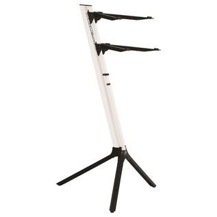 Quiklok SL/911ALU WH Slim Dual-Tier Aluminium Keyboard Stand, White 1