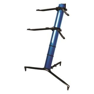 Quiklok SL/913ALU BL Tower Dual-Tier Aluminium Keyboard Stand, Blue 1