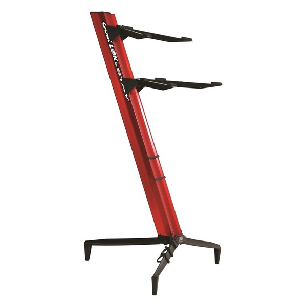 Quiklok SL/913ALU RE Tower Dual-Tier Aluminium Keyboard Stand, Red 1