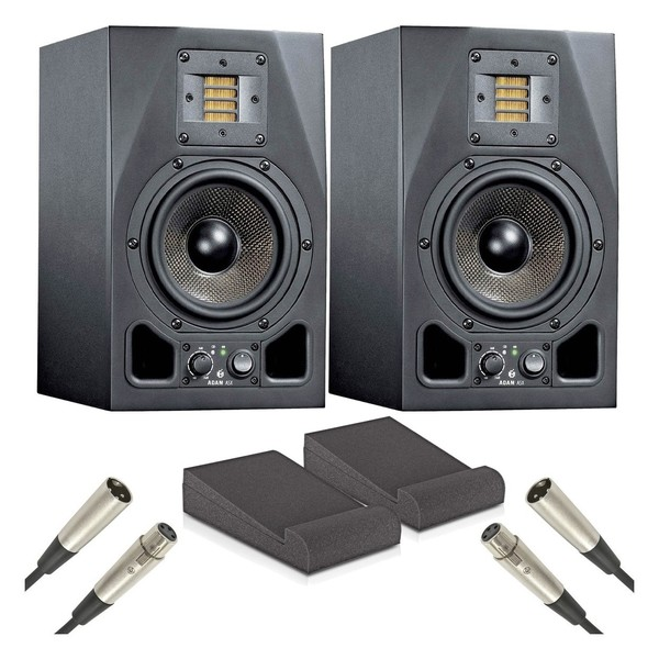 Adam A5X Studio Monitors with Isolation Pads and Cables, Pair - Main