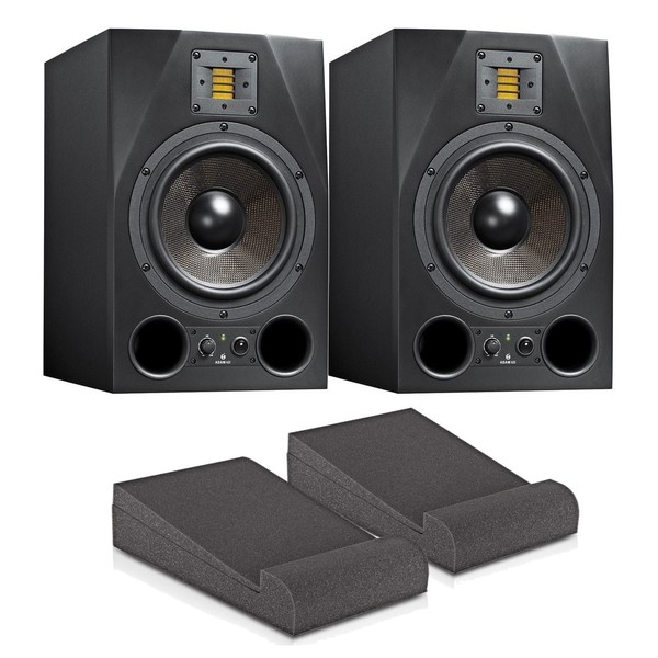 Adam A8X Studio Monitors with Isolation Pads and Cables, Pair - Main