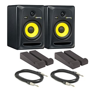KRK Rokit RP6 G3 Active Monitors with Isolation Pads and Cables, Pair - Main