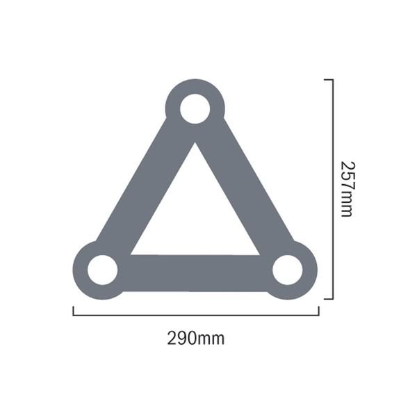 Global Truss PL-4097-42 F33 PL 4 Way T Piece Apex Down, Dimensions
