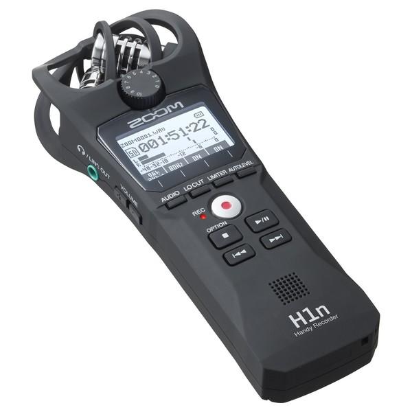 Zoom H1n Portable Audio Recorder, Black - Flat