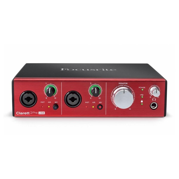 Focusrite Clarett 2Pre USB Audio Interface - Front Elevated