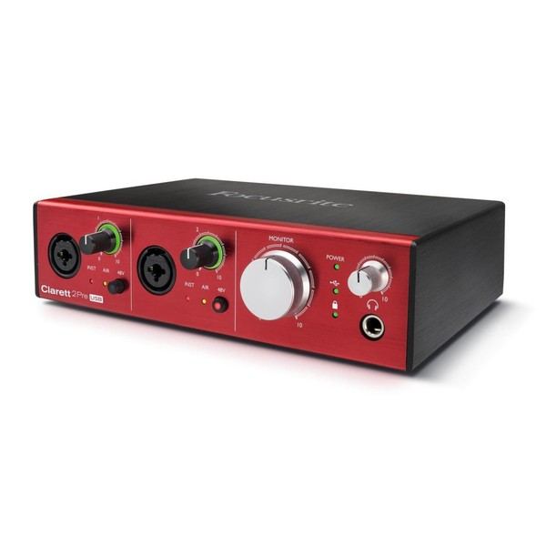 Focusrite Clarett 2Pre USB Audio Interface - Left