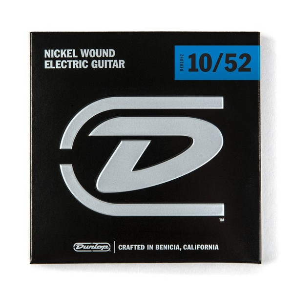 Dunlop Hybrid Medium Nickel 6 String Electric Guitar Strings, 10-52