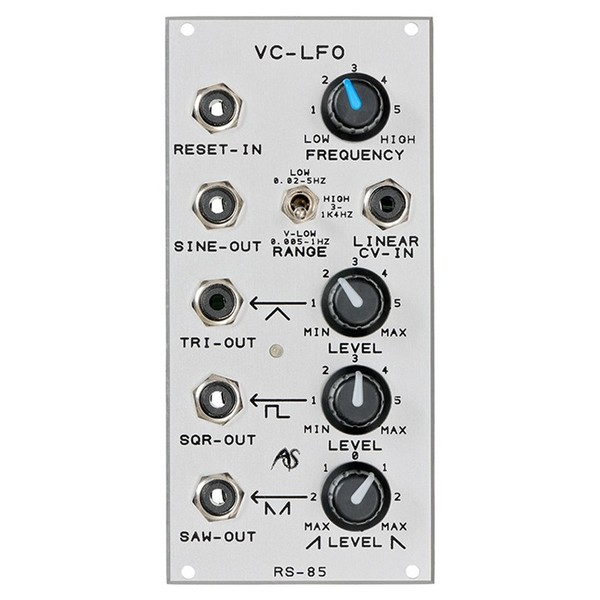 Analogue Systems RS-85N Extended VC-LFO Dual Bus Module - Front
